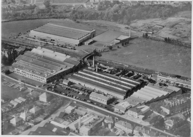Dowty Meco - Main Offices and Factory Worcester | Original photo in the Dowty archive at the Gloucestershire Heritage Hub