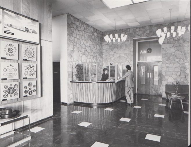 Dowty Seals - Reception Office | Original photo in the Dowty archive at the Gloucestershire Heritage Hub