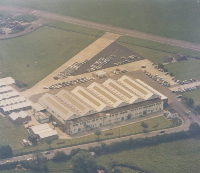 Dowty Fuel Systems - 25 Site Staverton Aerial Photograph  | Original photo in the Dowty archive at the Gloucestershire Heritage Hub