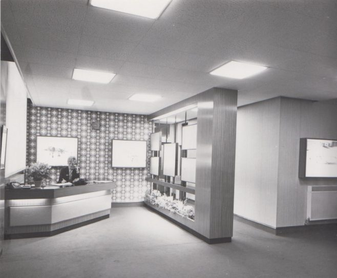 Dowty Rotol - Reception Office | Original photo in the Dowty archive at the Gloucestershire Heritage Hub