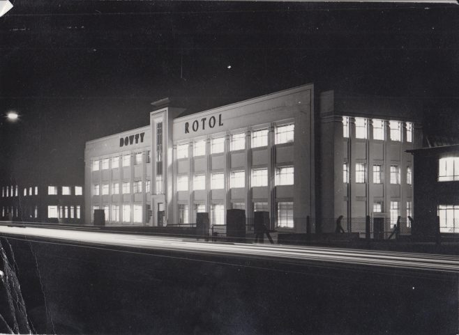 Dowty Rotol - Main Offices & Factory Staverton | Original photo in the Dowty archive at the Gloucestershire Heritage Hub