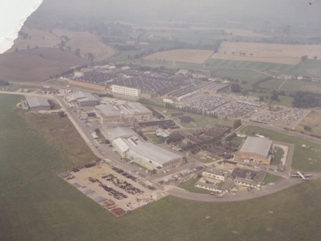 Dowty Rotol - Main Offices & Factory Aerial Photograph | Original photo in the Dowty archive at the Gloucestershire Heritage Hub