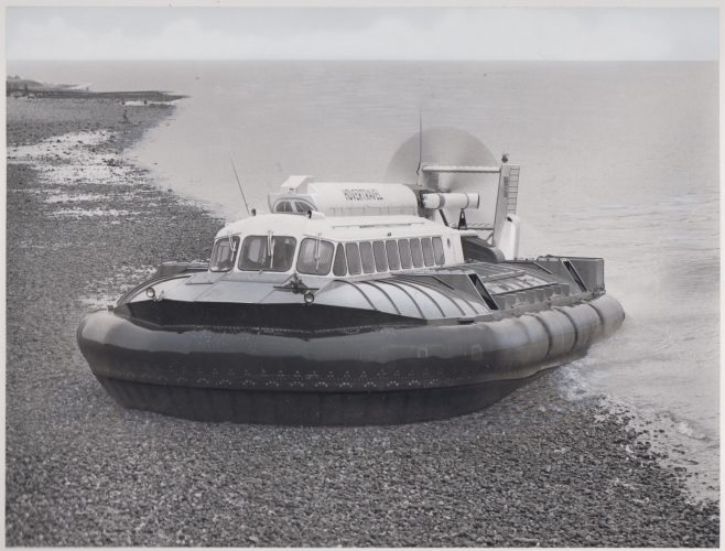 SRN 6 Hovercraft with Dowty Rotol Propellers | Original photo in the Dowty archive at the Gloucestershire Heritage Hub