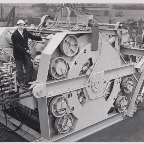 Dowty Meco - 150 Ton Winch powered by 12 Dowmax Motors | Original photo in the Dowty archive at the Gloucestershire Heritage Hub
