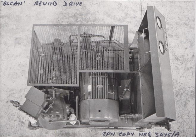 Dowty Meco - Alcan Rewind Drive | Original photo in the Dowty archive at the Gloucestershire Heritage Hub