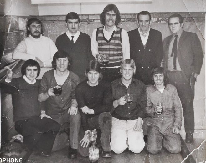 Dowty Rotol No 1 Shop Inter Dept Skittle Team 'The Wombles' 1975 | Kay Taylor