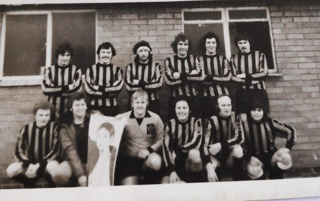 Dowty Rotol No 1 Shop Football team v Newtown Wanderers 1977 | Kay Taylor