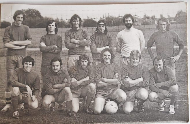 Dowty Rotol No 1 Shop Inter Dept Football team 1975 | Kay Taylor