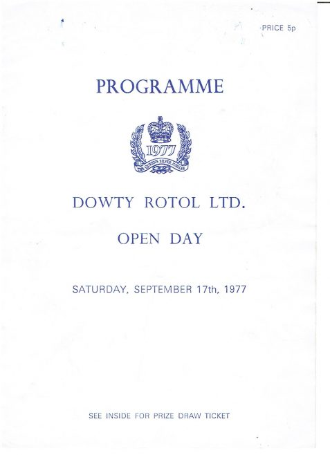 Dowty Rotol - Open Day Programme 1977   Brian Woodcock