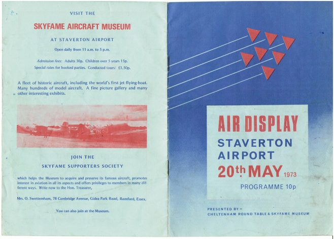 Staverton Airport - Air Display Programme 1973 | Brian Woodcock