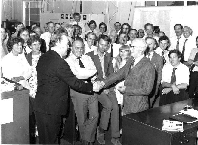 Dowty Mining Production Office - Stan Bick's leaving presentation c 1970's | Jan Goddard
