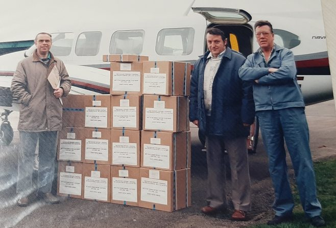 Dowty Rotol Despatch Department team c.1985 L to R Alan Hodges, Ivor Cavill and Ray Goode | Steve Goode