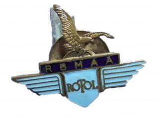 Could it be a wartime badge or a celebration of the companies.. Rotol; British Messieur; Avro Aircraft.... ? | Simon Tolley