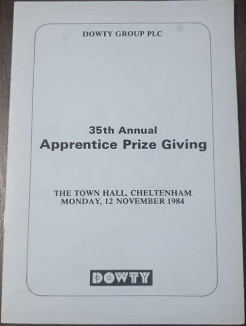 Dowty 35th Annual Apprentice Prize giving November 1984 | Simon Probyn