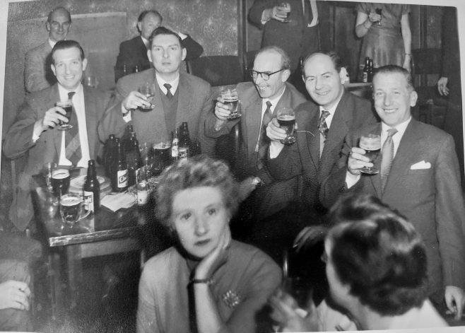 Rotol No 1 Assembly Xmas dinner Star Hotel Cheltenham 1961 Godfrey Ferris in centre   Jean Lee