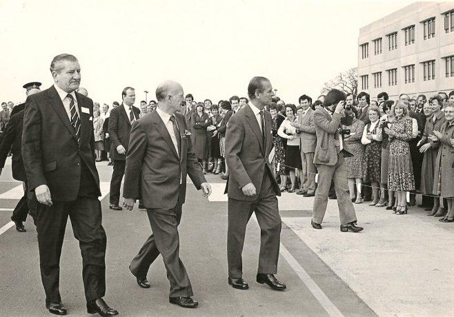 DFS Arle Court - visit of the Duke of Edinburgh in 1991.  | John Ganderton