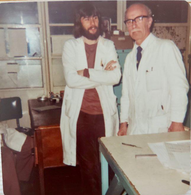 Godfrey Ferris on right   Jean Lee