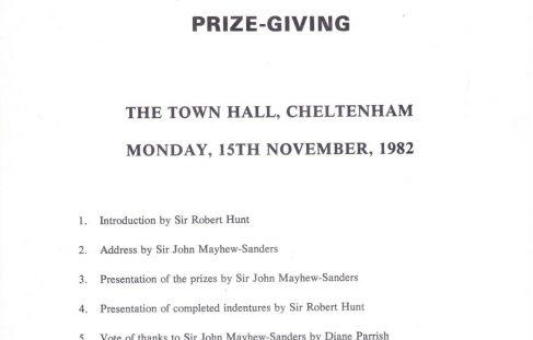 Apprenticeship Prizegiving - 1982