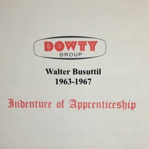 Walter Busuttil - Apprentice Completion 1967