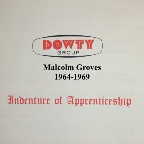 Malcolm Groves - Apprentice Completion 1969