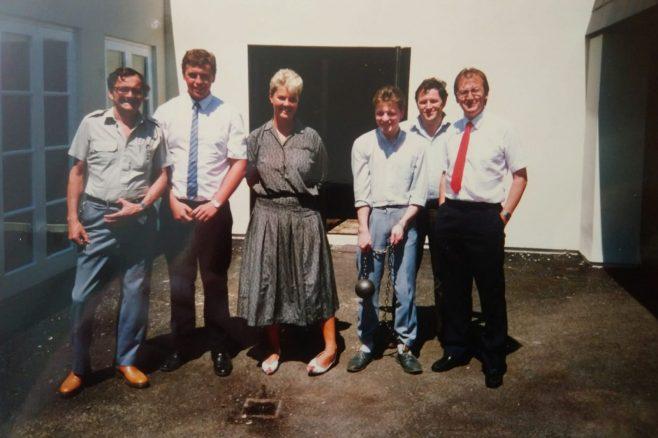 Non Destructive Department Dowty Rotol  (L -R) Jimmy James, Keith Phillips, Gail, Andy Bond-Thorley, Ken Farnol, John Hewitt | Andy Bond-Thorley